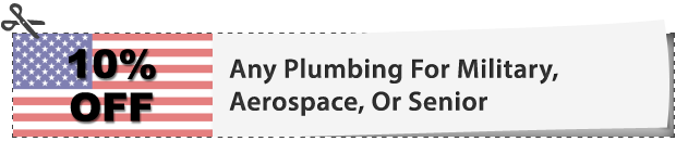 Plumbing Discount for Military, Aerospace, or Senior