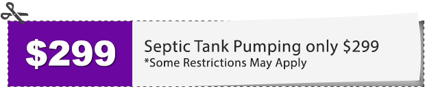 $299 SEPTIC TANK PUMPING